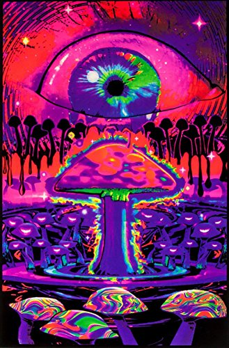 klight Poster 23 x 35in (Mushroom Blacklight Poster)