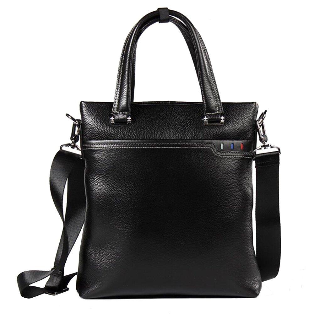 JIANFCR Herren Leder Casual Diagonal Paket für Event/Party Casual Formale Büro & Karriere 4 Jahreszeiten Schwarz Handtasche
