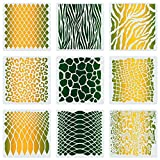 CINPIUK 9 Set Animal Print Stencils 7 Inch Painting Templates Scrapbooking Painting on Wall Furniture Canvas