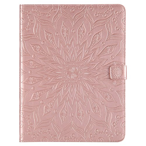XYX Tablet Case for iPad 2/3/4,Sunflower PU Leather Wallet Case Flip Folio Stand Cover for 9.7 iPad 2nd / 3rd / 4th Generation,Rose Gold