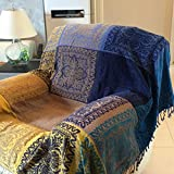 WYSMao Nordic Style Throws Sofa,Cotton Sofa slipcovers Sofa Blanket Bay Window Blanket Carpet 1,2,3,4 Cushion Covers-Furniture Protector-A 150x190cm(59x75inch)