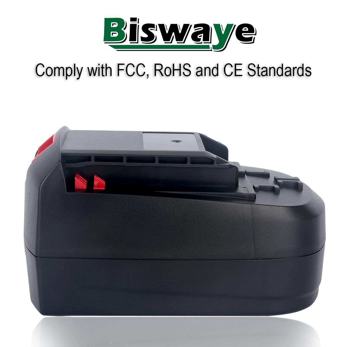 Biswaye 2Pack 18V Battery SB18C SB18A SB18B for Skil 18V Select System Cordless Tools 2810 2888 2895 2897 2898 4570 5850 5995 7305 9350, 3000mAh Ni-Cd by Biswaye (Image #5)