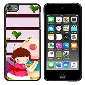 KLONGSHOP // Cubierta de piel con cierre a presión Shell trasero duro de goma Protección Caso - Paisaje de invierno - Apple iPod Touch 6 6th Touch6 //