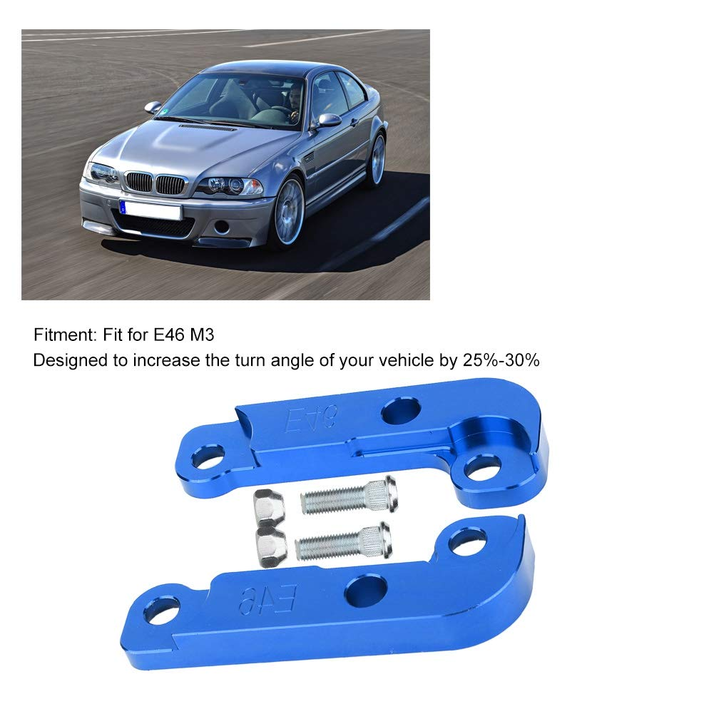 Gorgeri Drehwinkeladapter 30/% Aluminiumlegierung Blau f/ür E46 M3 2Pcs Drift Lock Kit Adapter Erh/öhte Drehwinkel Etwa 25/%