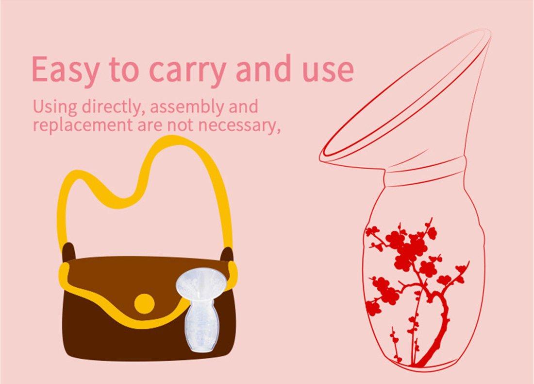 CMBEAR Muttermilch Sammler-Fl/üssiger Silikon-Milch Sammler-Milch Leckage-Keine BPA