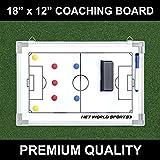 Soccer Tactics/Coaching Board 18in x 12in [Net World Sports]