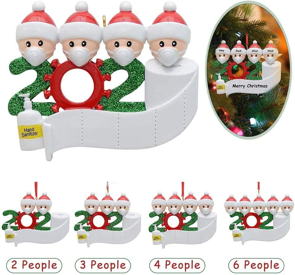 2020 Isolation Survivor Family Custom Printing Shower Curtain Bathroom Floor Mat Base Mat Toilet Mat 4PCS Autotipps Christmas Home Decor Isolation Party Products Personalization 1-7 Family Members