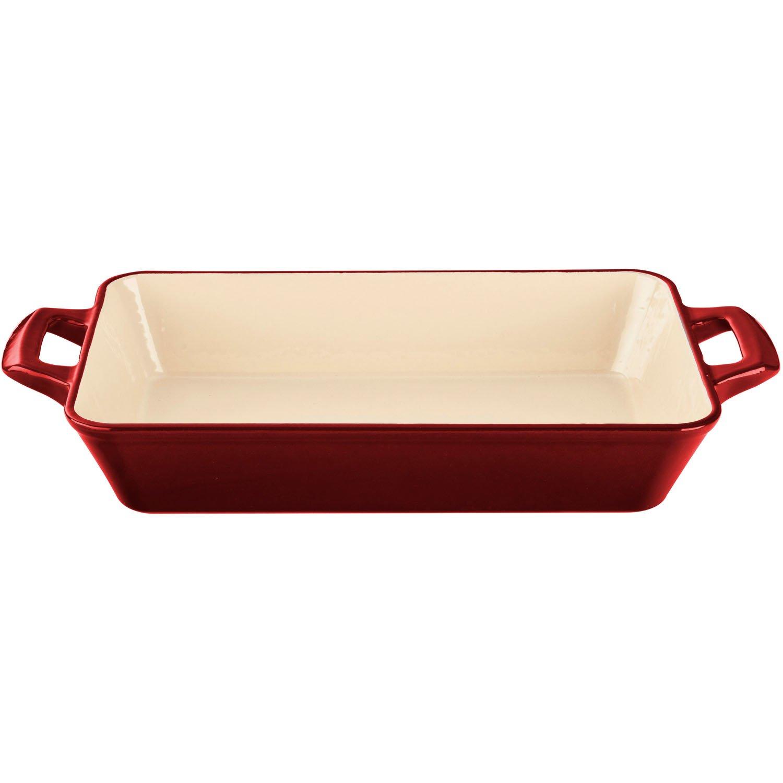 La Cuisine 1.8 Qt Enameled Cast Iron Deep Roasting Pan, Black LC 8240