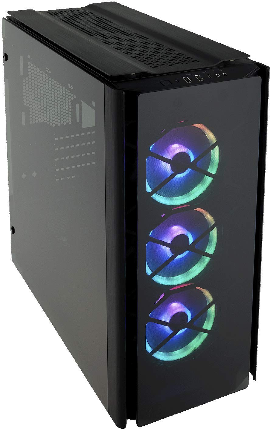 CORSAIR Obsidian 500D RGB SE Mid-Tower Case, 3 RGB Fans, Smoked Tempered Glass, Aluminum Trim - Integrated Commander PRO Fan and Lighting Controller by Corsair