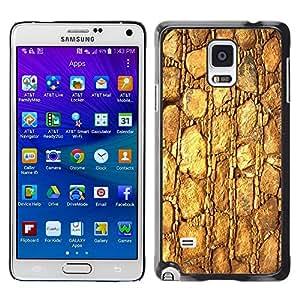 Stuss Case / Funda Carcasa protectora - Gold Pattern Texture Material Rocks Stone - Samsung Galaxy Note 4 SM-N910