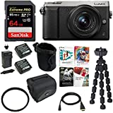 Focus Camera Panasonic LUMIX GX85 4K Mirrorless, 12-32mm Lens, Dual I.S.+64GB & 2 Battery Kit