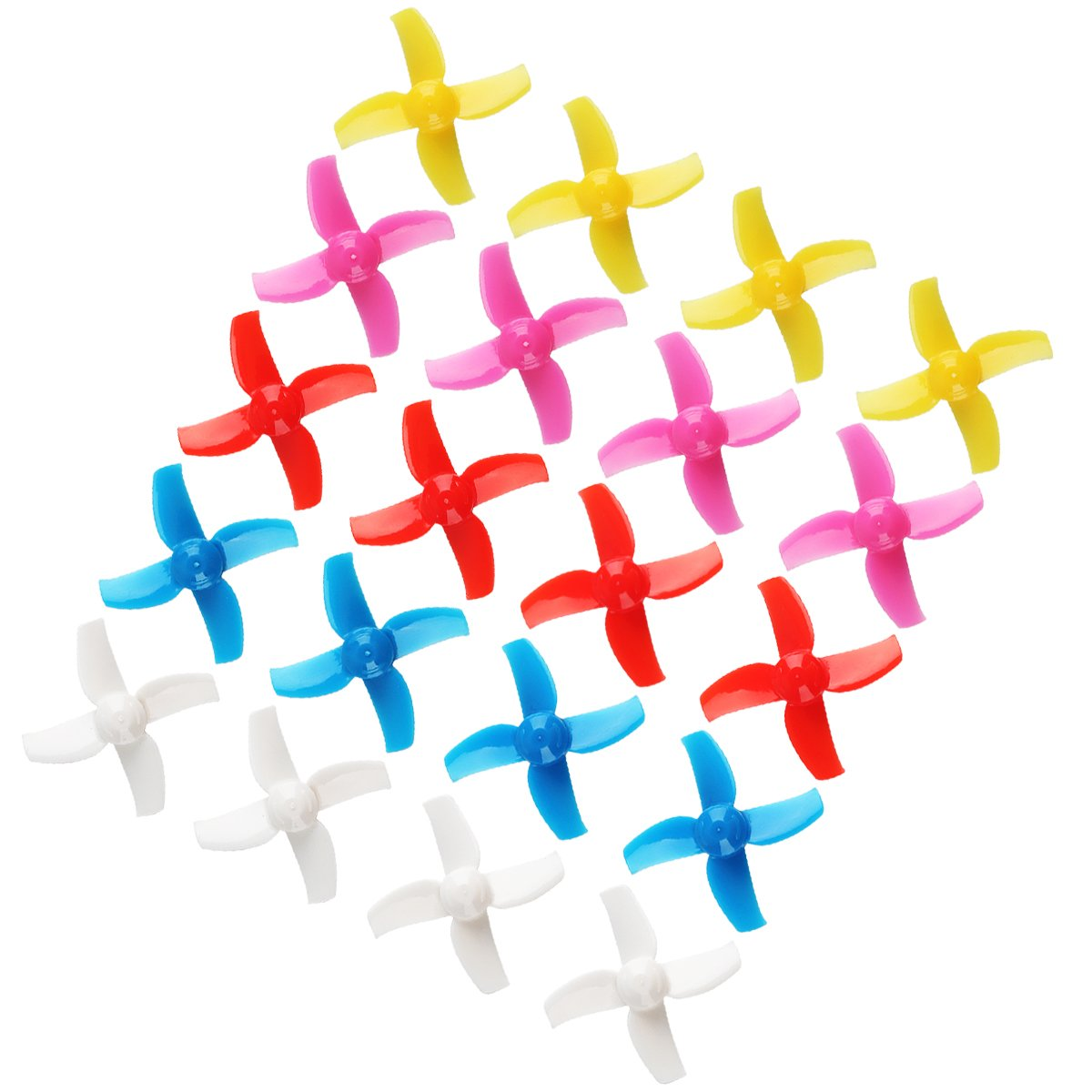Crazepony 20pcs 40mm Four-Blade 4 Blade Propellers for Inductrix FPV Plus Tiny 7X Mini FPV Racing Drones Multirotors Quadcopters