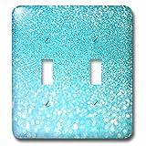 3dRose Uta Naumann Faux Glitter Pattern - Sparkling Beach Teal Luxury Elegant Mermaid Glitter Effect Art print - Light Switch Covers - double toggle switch (lsp_266925_2)