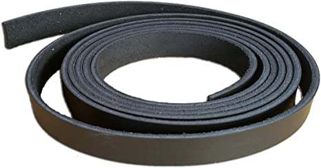 3.2-3.6 mm 2 Inch Black Leather Strip 8-9 oz. - Latigo Leather Strips up to 96 Inch Long Made in USA by Pitka Leather 2 x 12
