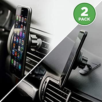 Universal Car Mount Air Vent and Dash Holder Magnetic for iPhone Galaxy Phone