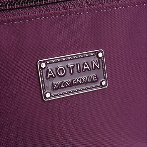 Shoulder For Zipped Bags Body For Women Cross BLACK Closure AOTIAN Day G Bag Messenger Bag Bag Hiking Casual wq0XxBHHp