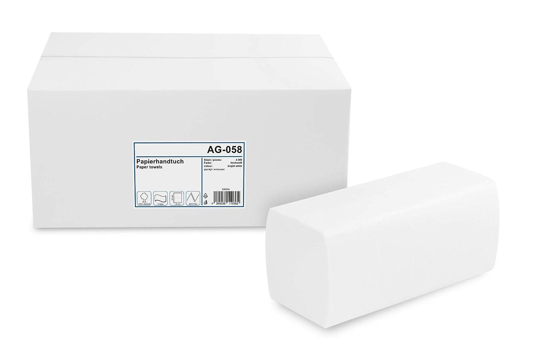 Funny 2 capas Toallas de mano de papel con zz-fold 25 x 23 cm blanco brillante [4000 hojas]: Amazon.es: Industria, empresas y ciencia