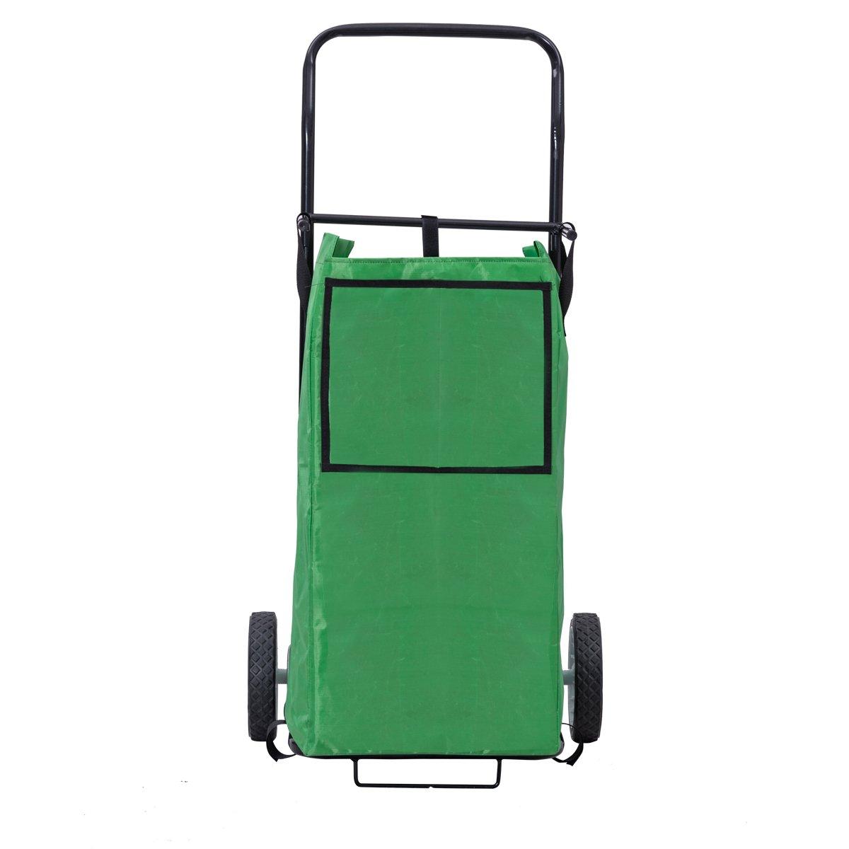 Goplus Portable Gardening Lawn Leaf Bag Detachable Tote Cart Multifunctional Folding Basket w/ Pocket Green by Goplus (Image #9)