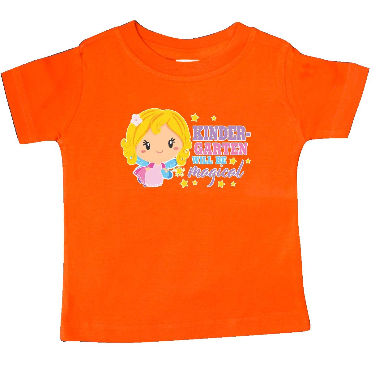 inktastic Kindergarten Will Be Magical with Blonde Fairy Baby T-Shirt
