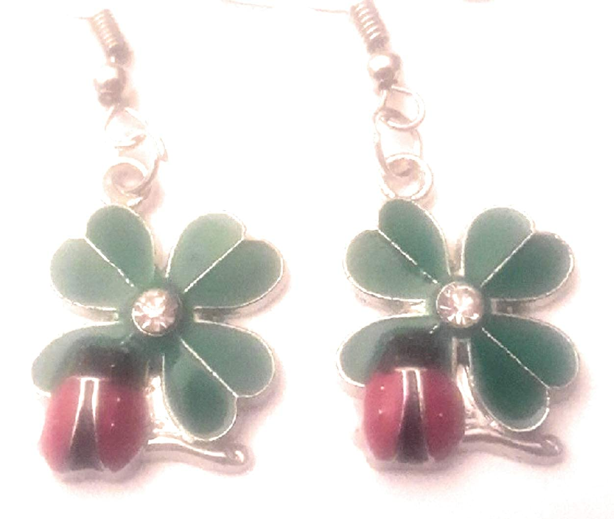 Marcella Handmade Beautiful Ladybug Dangle Drop Earrings