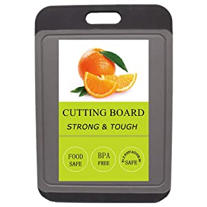 Kitchen Cutting Board, BPA Free, Dishwasher Safe, Juice Grooves, Larger Thicker Boards, Easy Grip Handle, Non Porous, Extra Large, Kitchen (Big)