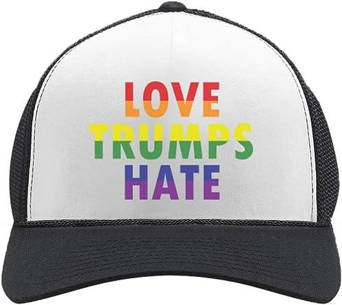 Gay Rainbow Love is Love Unisex Baseball Cap Outdoor Sun Hats Adjustable Trucker Caps Dad-Hat