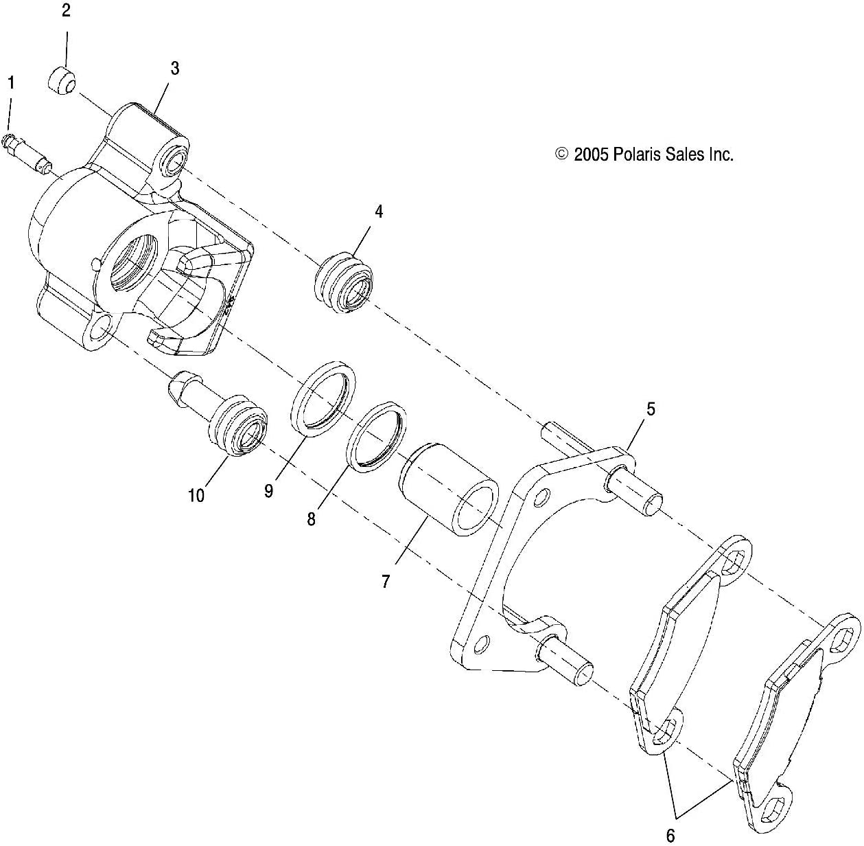 Set of Two Brake Pads Genuine OEM Part 2202412 Polaris Front Brake Pad Kit Assembly