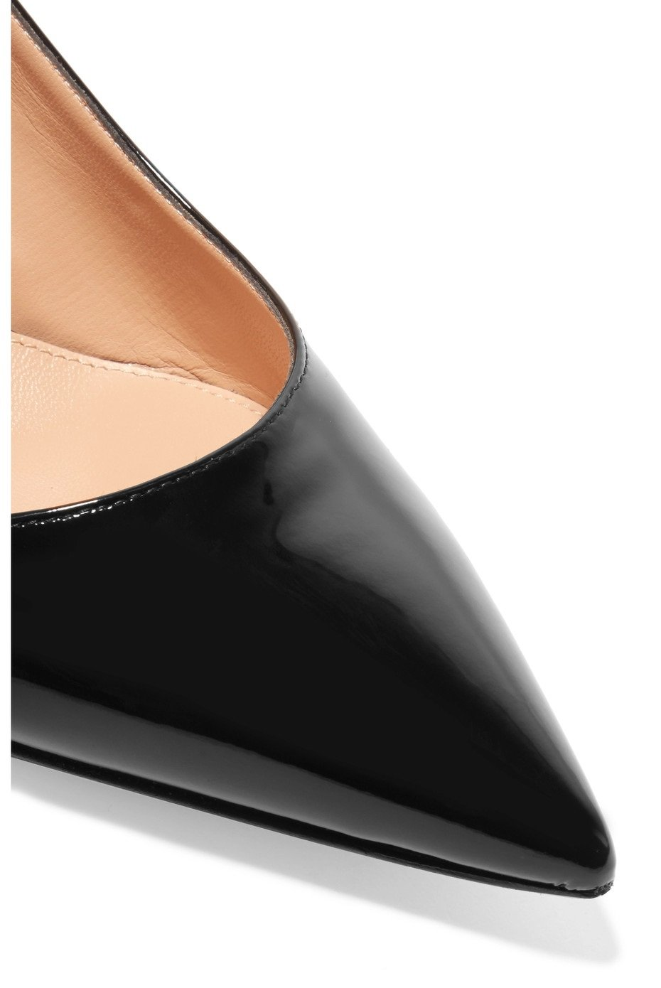 Sammitop Women's Pointed Toe Slingback Shoes Kitten Heel Pumps Comfortable Dress Shoes B07D4JPLDH 6.5 B(M) US|Black