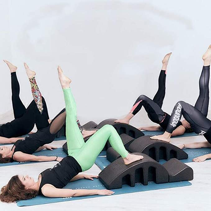 Deformazione cervicale spinale correzione cervicale Schiuma Yoga correzione della cifosi Attrezzatura Fitness Pilates Arc,Black WXX Ortesi spinale Pilates