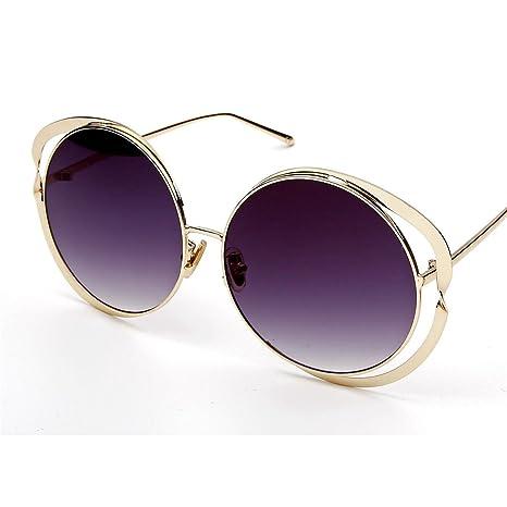GCC Las Gafas de Sol Gafas de Sol de Metal Redondo ...