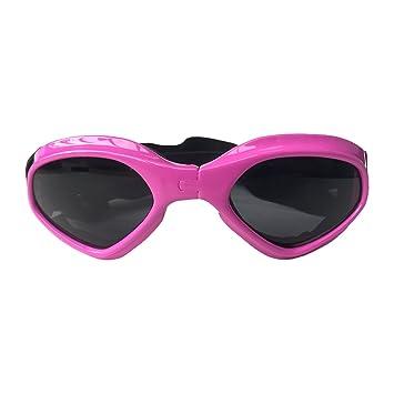 Hundebrille Große Sonnenbrille UV-Schutz Für Fahren Radfahren Und Anti-Fog,Pink