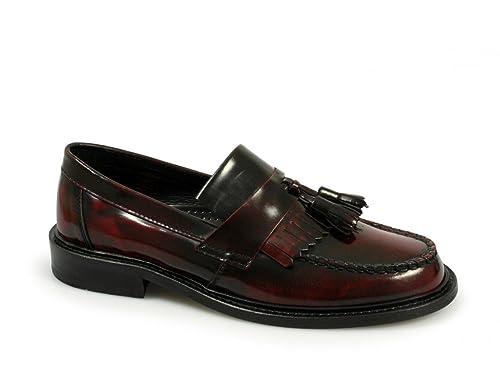Ikon - Mocasines de cuero para mujer rojo Oxblood, color rojo, talla 40: Amazon.es: Zapatos y complementos