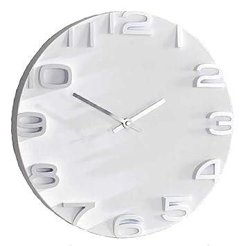 Uhr Modern amazon de sidco wanduhr future analog 3d uhr weiß deko uhr modern