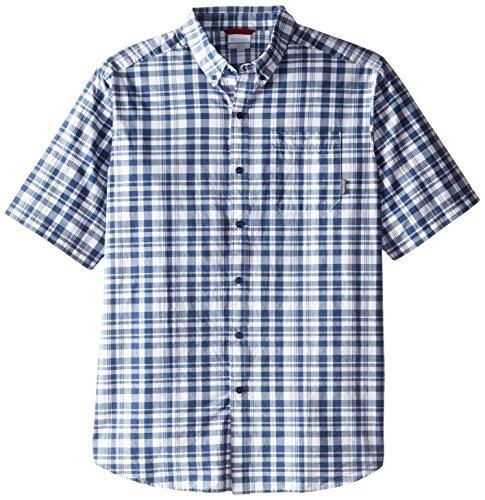 Columbia Men's Big-Tall Rapid Rivers Ii Short Sleeve Shirt, Carbon Plaid, Large/Tall