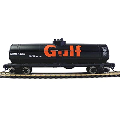 Walthers Trainline HO Scale Model 40' Tank Car with Metal Wheels - Gulf Oil Company: Toys & Games