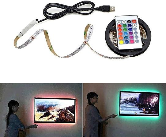 USB Powered DC 5V LED Strip light 2835 RGB White LED Lamp TV Background Lighting