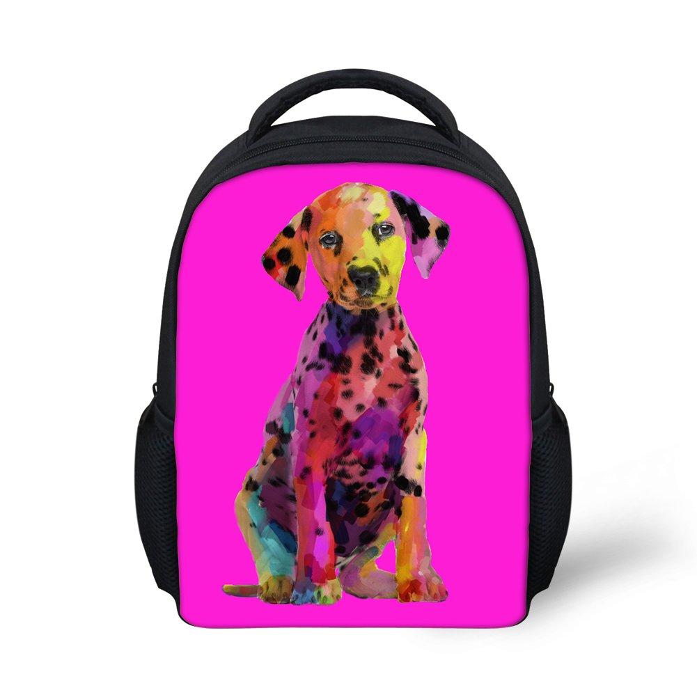 Hoijay Preschool Backpack, Little Kid Backpacks for Boys and Girls Watercolor Paint Dalmatian Dog