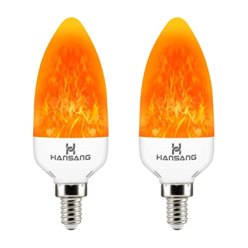 Hansang 2 Modes Decorative Chandelier LED Flame Light Bulb