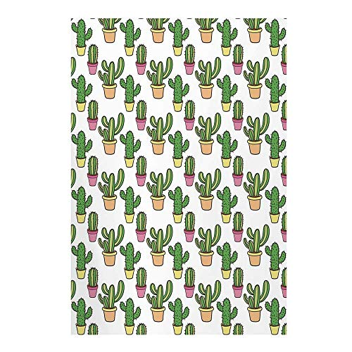 (Cactus Stylish Backdrop,Vases and Pots with Flowers Cute Cartoon Drawing Colorful Summer Plants Design Decorative for Photography,39