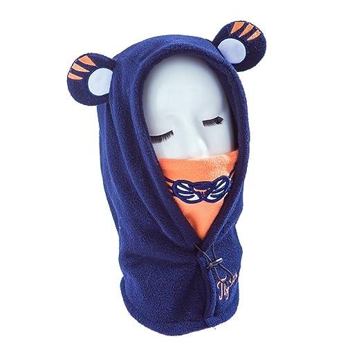 1788c8f1e6c Celendi Black Friday Unisex Baby Earflap Hood Hat Scarves with Ears Hedging  Cap (Blue)