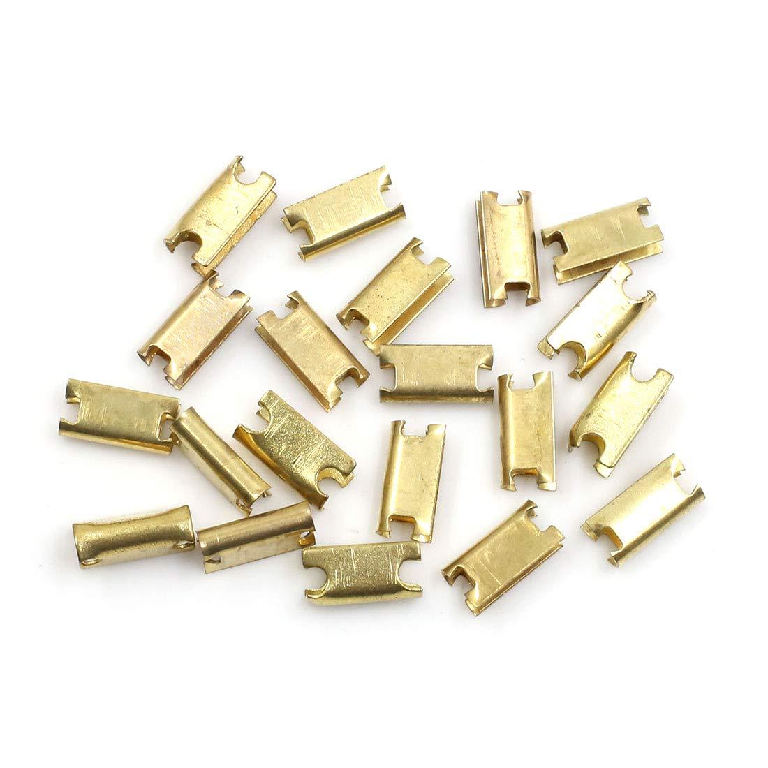 X AUTOHAUX Lot de 20 Clips de Fixation en m/étal pour Console de Voiture 6,5 mm x 13 mm