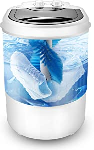 Portable Mini Washing Machine Wash Shoes Wash Clothes and Spin-dry,10 lbs Capacity,Mini Washer for Apartments Camping Dorms Business Trip College Rooms