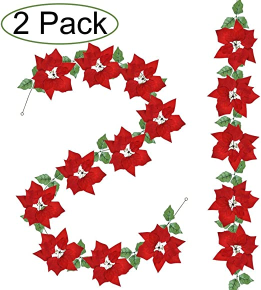 **SALE** The Night Before Christmas 30 PAPER FLOWER BLOSSOMS /& HOLLY LEAVES