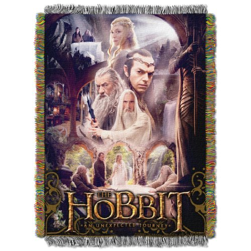 - Warner Brothers The Hobbit, Last House Woven Tapestry Throw Blanket, 48