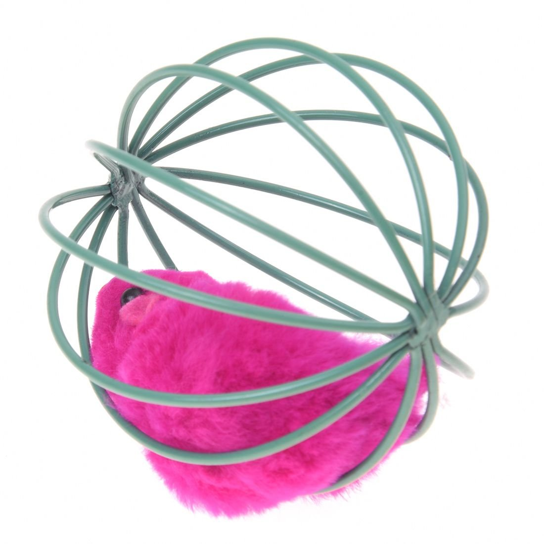 Amazon.com : Best Quality fjs-pet cat Kitten Funny Playing Toy Teal Fake Mouse mice Rat in cage Ball : Pet Supplies