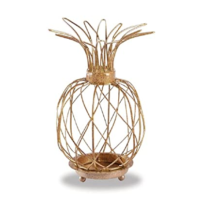 Amazon.com  Mud Pie Gold Metal Wire Pineapple Votive Holder  Home ... 8803b74de1