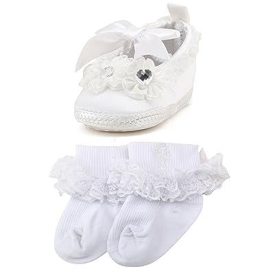 Amazon.com: OOSAKU Zapatillas de bautizo para bebé, para ...