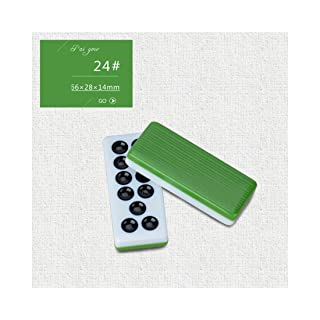 NuoEn Pai Gow Tiles Cards Gioco Tradizionale Set Family Tempo Libero Giochi 32 Tiles ( Color : Green24# )