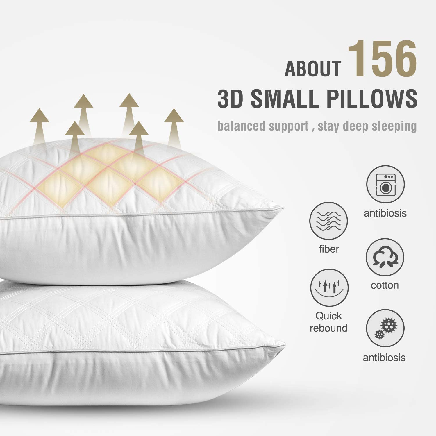 SORMAG Bed Pillows for Sleeping Set of 2, Standard Size 20 x 26 Inches, Luxury Hotel Collection Gel Pillows 2 Pack, Hypoallergenic Pillow for Side and Back Sleeper: Home & Kitchen