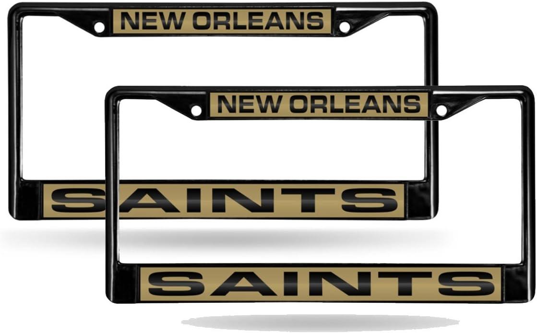 New Orleans Saints Laser Cut Chrome License Plate Frame